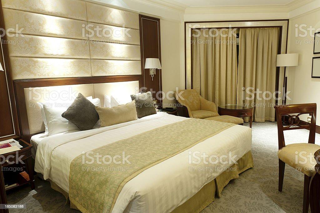 Luxury Shangri-la Hotel Room royalty-free stock photo