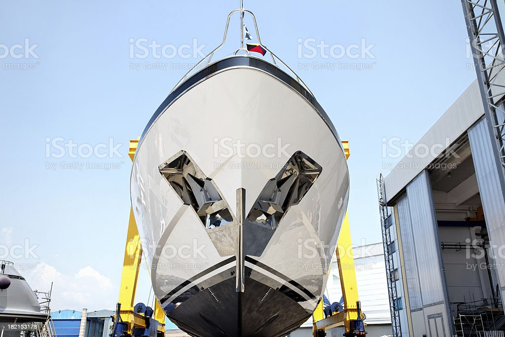 'Luxury shipbuilding, ship repair' stock photo