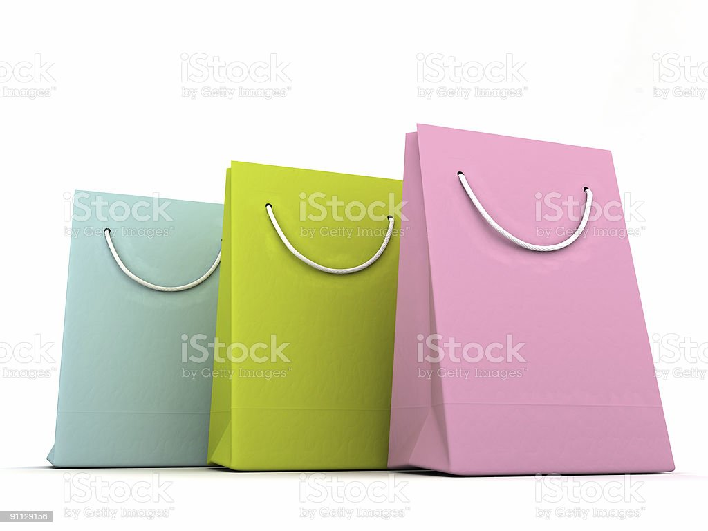 luxury shopping bags royalty-free stock photo