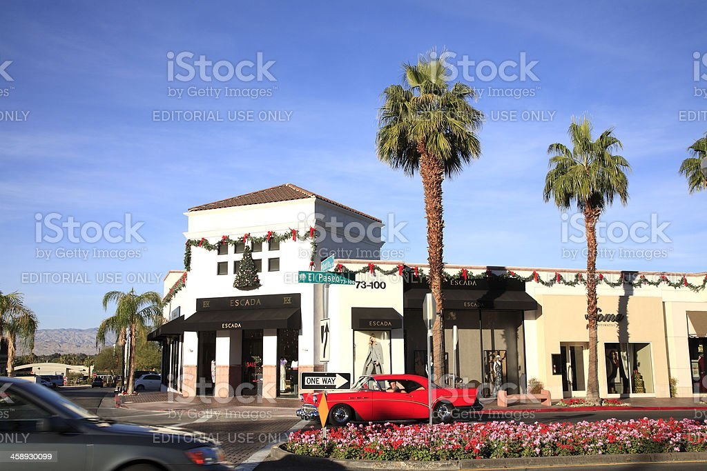 Luxury Shopping In Southern California royalty-free stock photo