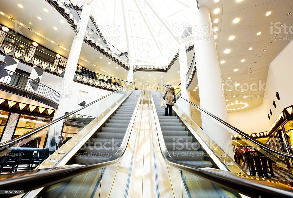 luxury shopping mall royalty-free stock photo