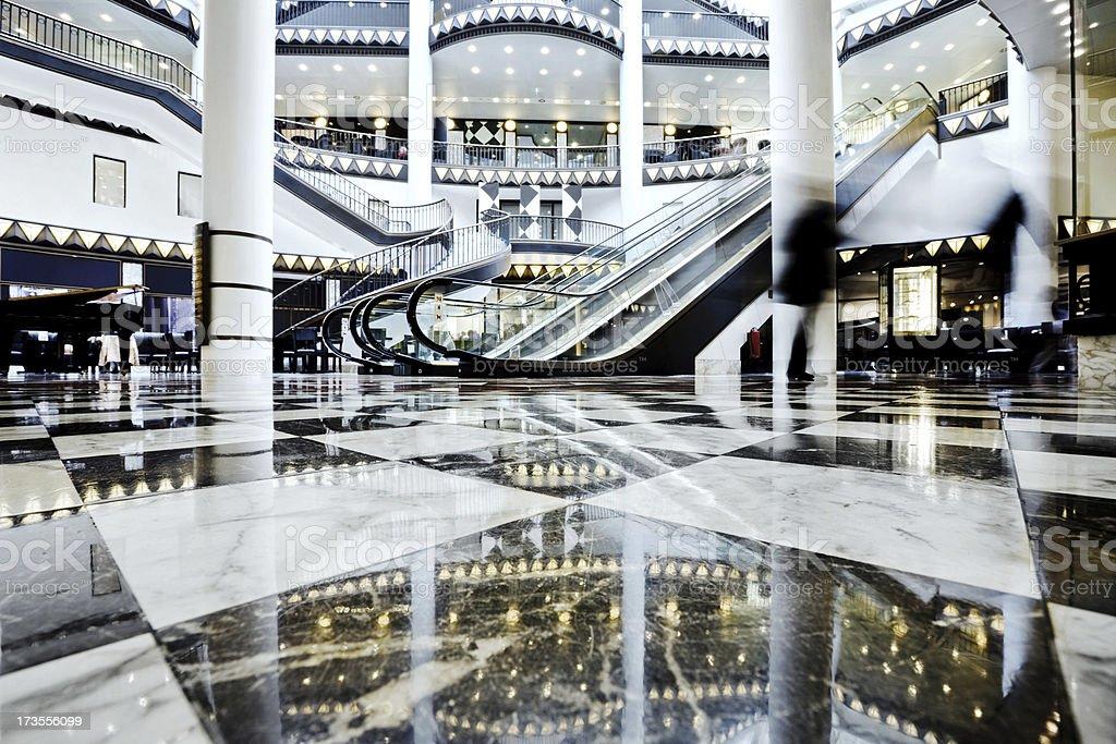 luxury shopping mall royalty-free stock photo