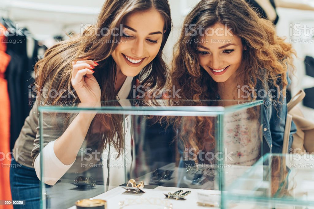 Luxury shopping stock photo