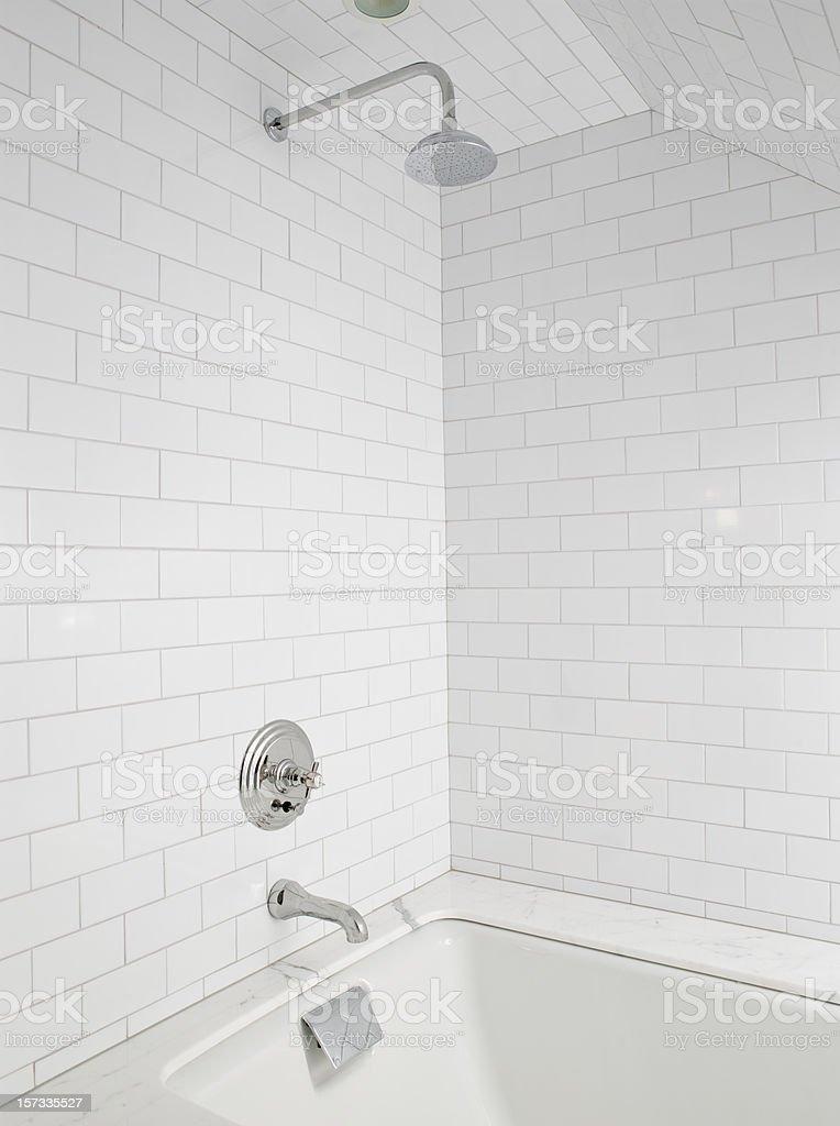 Luxury shower bath stock photo
