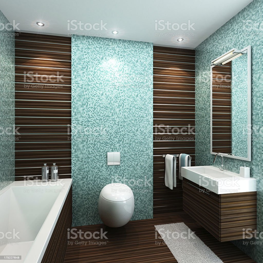 Luxury Small Bathroom royalty-free stock photo