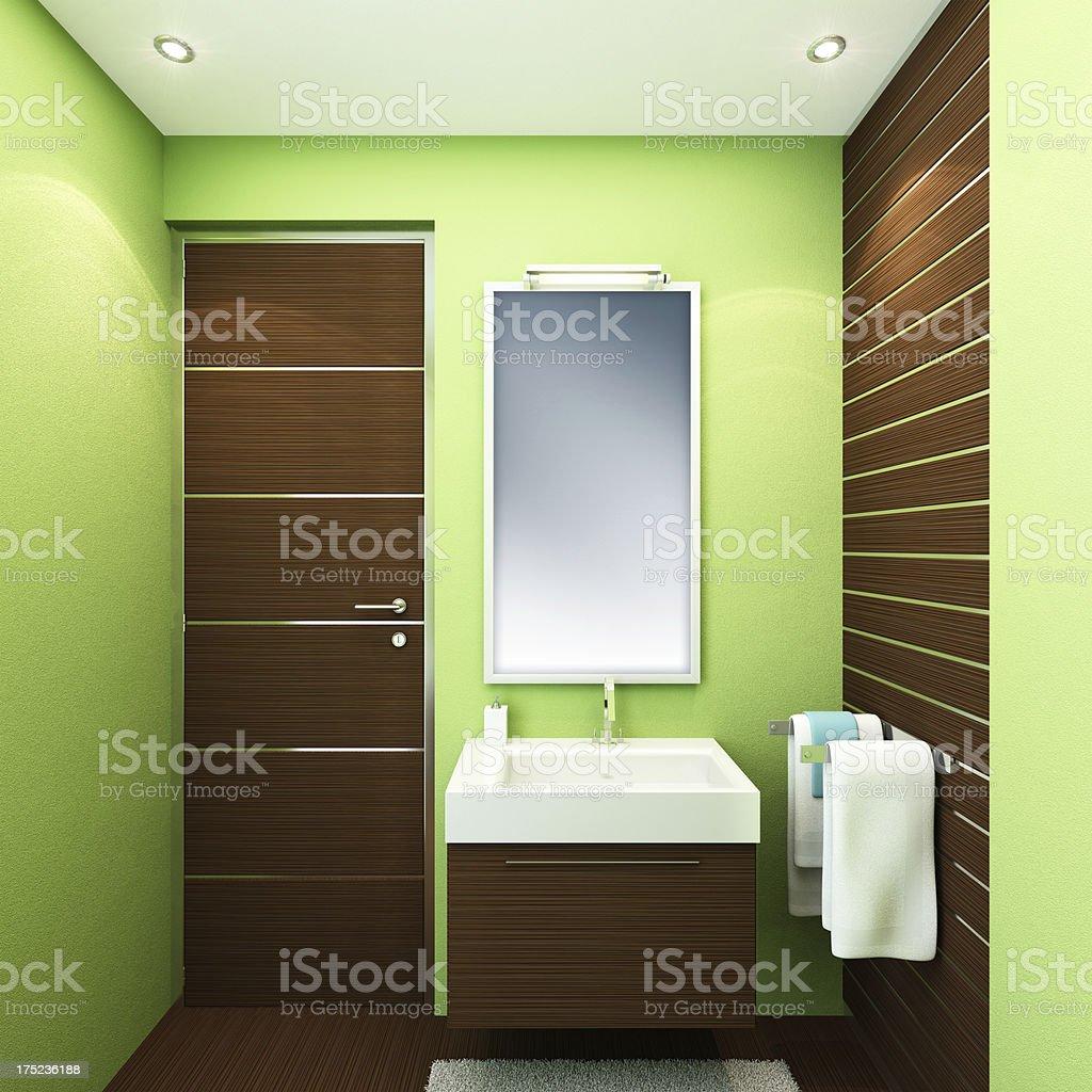 Luxury Small Bathroom royalty-free stock photo