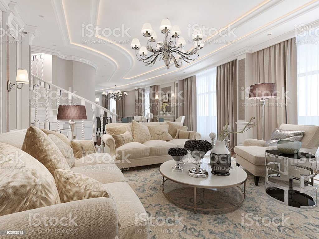 Luxury studio interior stock photo