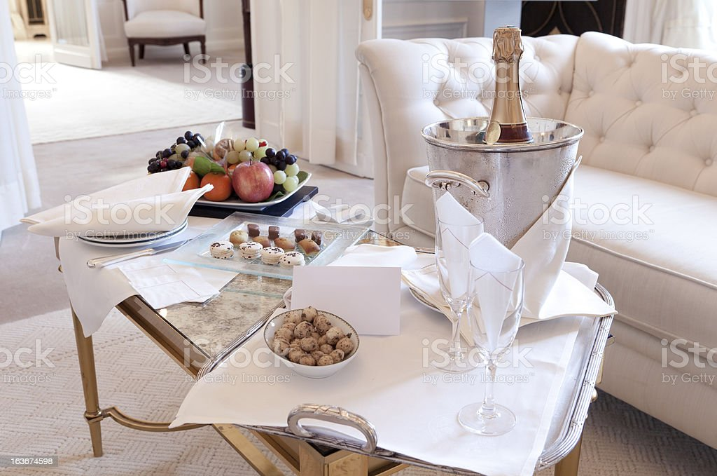 Luxury Suite Welcoming in Paris royalty-free stock photo