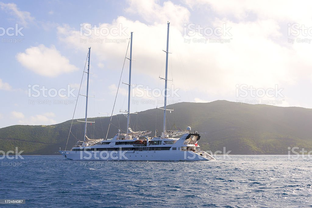 Luxury Super Yacht royalty-free stock photo