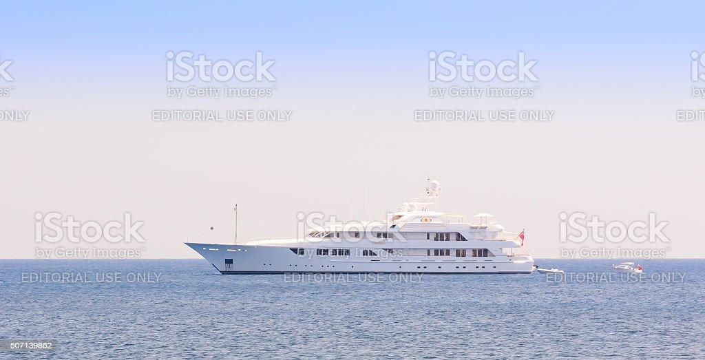 Luxury superyacht Callisto stock photo