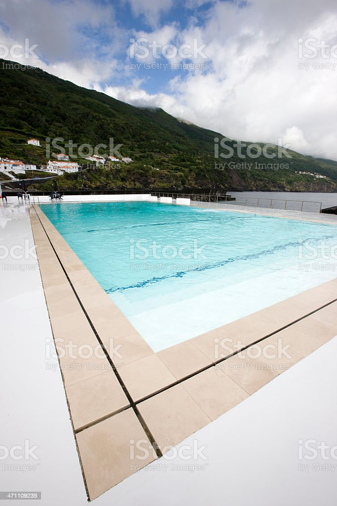 Luxury Swimming Pool at the Seaside royalty-free stock photo