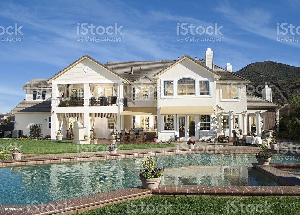 Luxury Swimming Pool Backyard Home