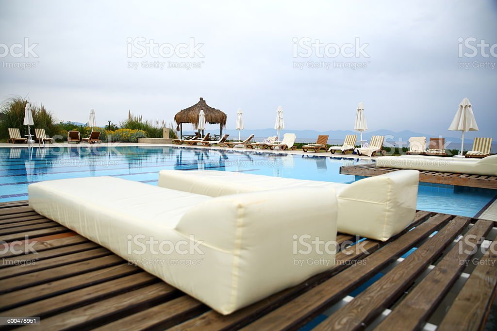 Luxury Swimming Pool royalty-free stock photo