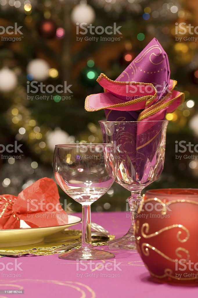 Luxury table set of a dinner royalty-free stock photo