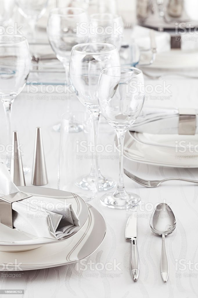 Luxury Table Setting royalty-free stock photo