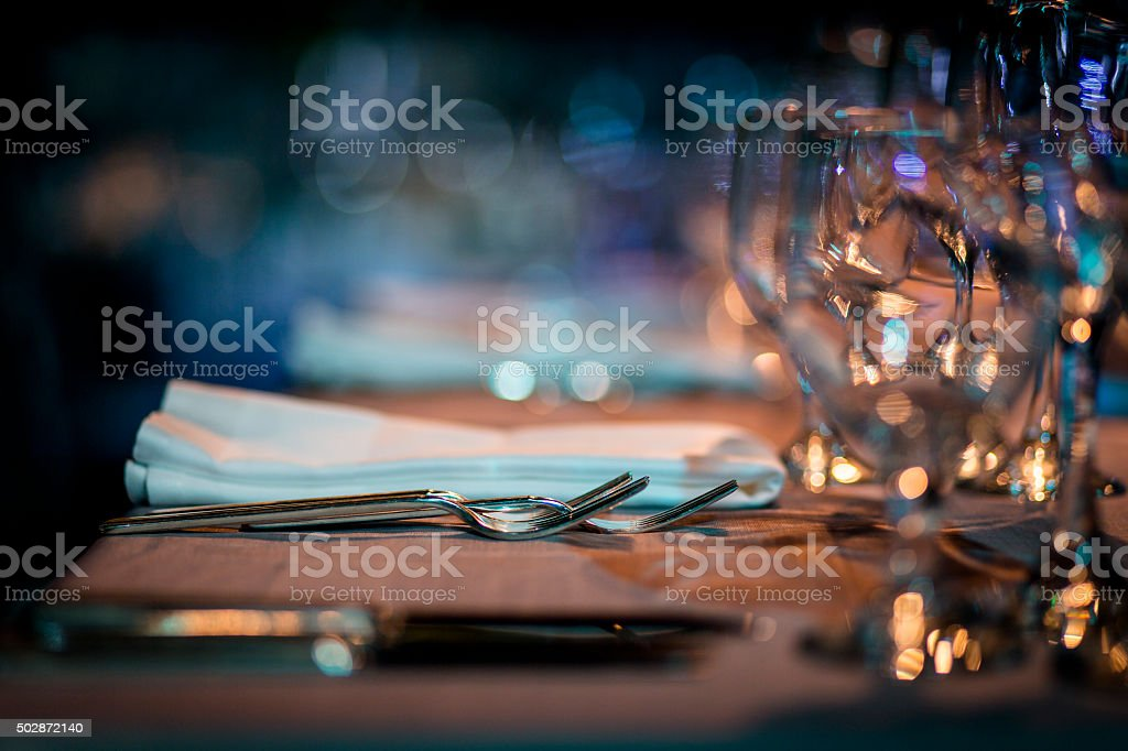 Luxury Table setting. royalty-free stock photo