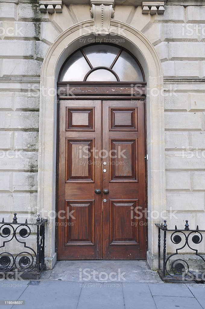 Luxury Town House Front Door stock photo