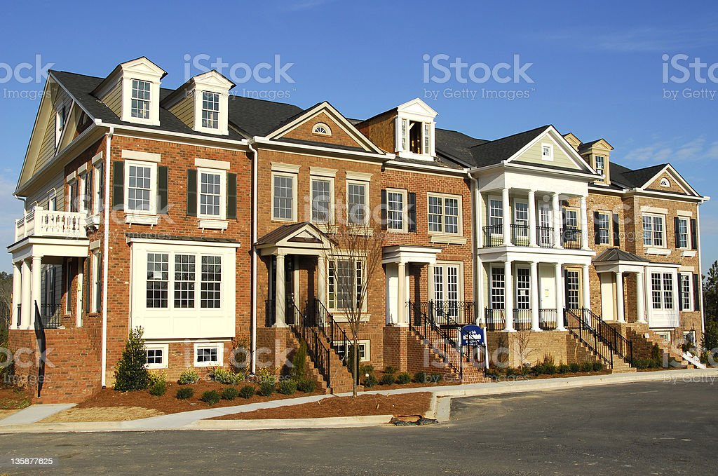 Luxury Townhome Construction stock photo