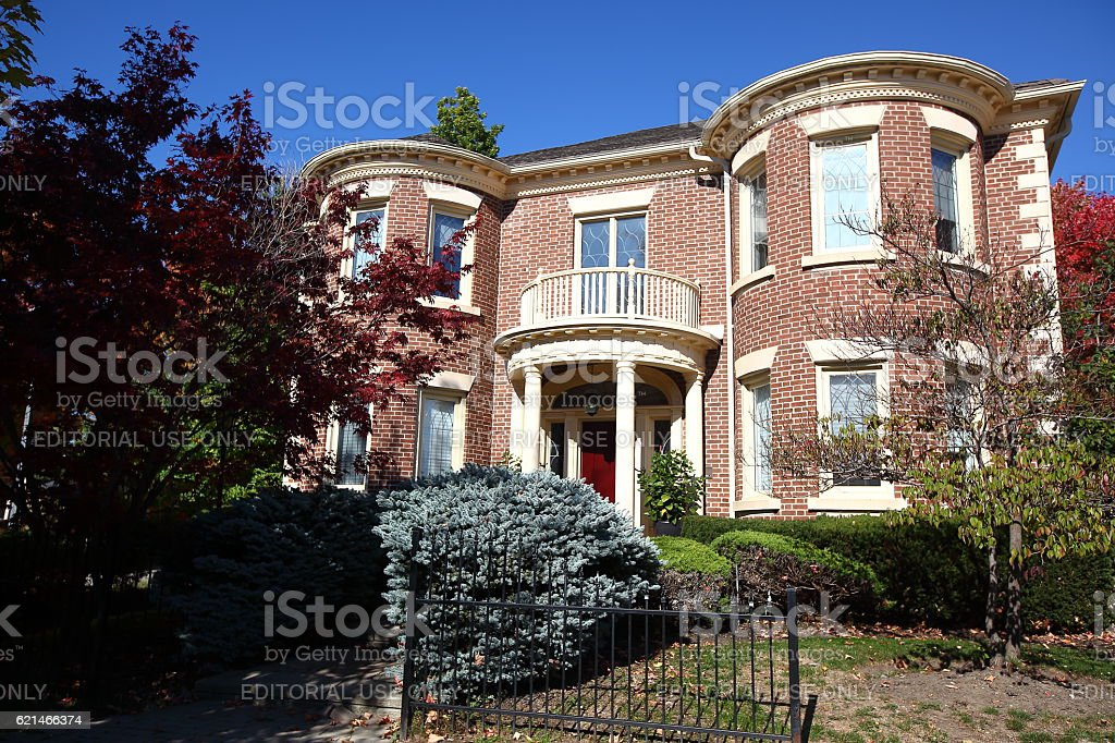 Luxury traditional Canadian house stock photo