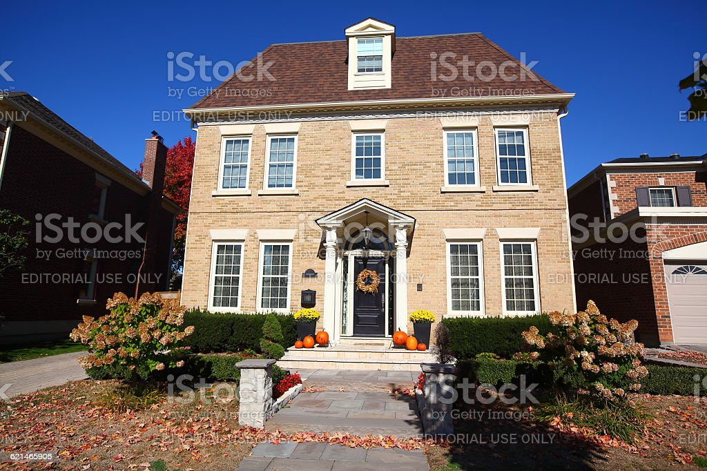 Luxury traditional Richmond Hill house stock photo