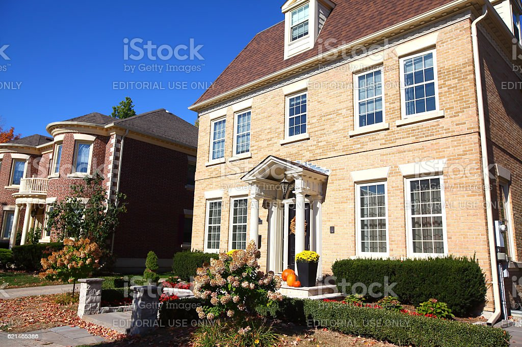 Luxury traditional Richmond Hill real estate stock photo