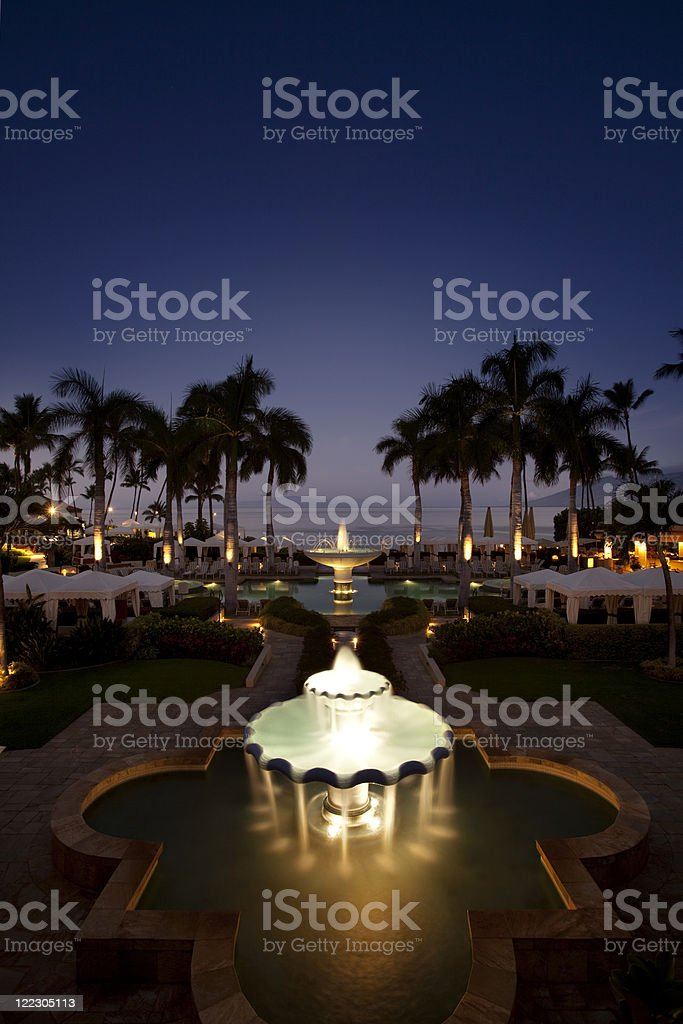 Luxury Tropical Resort stock photo
