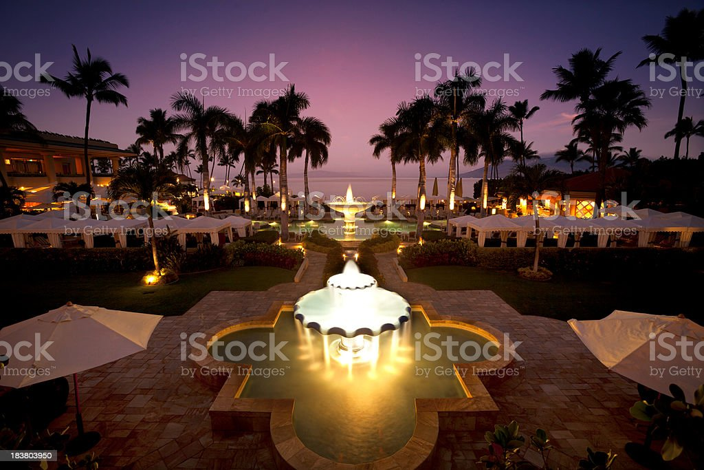 Luxury Tropical Resort stock photo