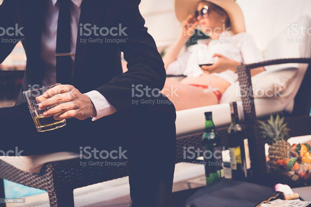 Luxury vacation stock photo