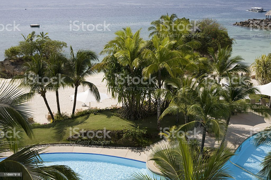 Luxury Vacation; Tropical Destination; Getting Away From it All royalty-free stock photo
