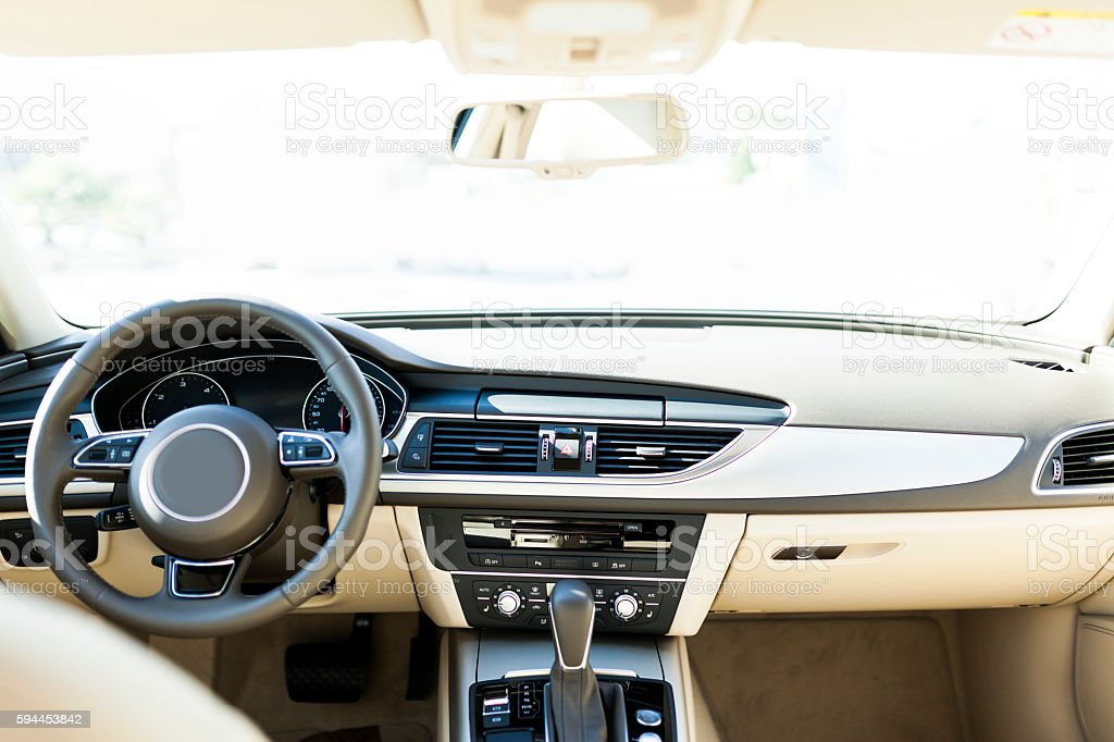 Luxury Vehicle Interior stock photo
