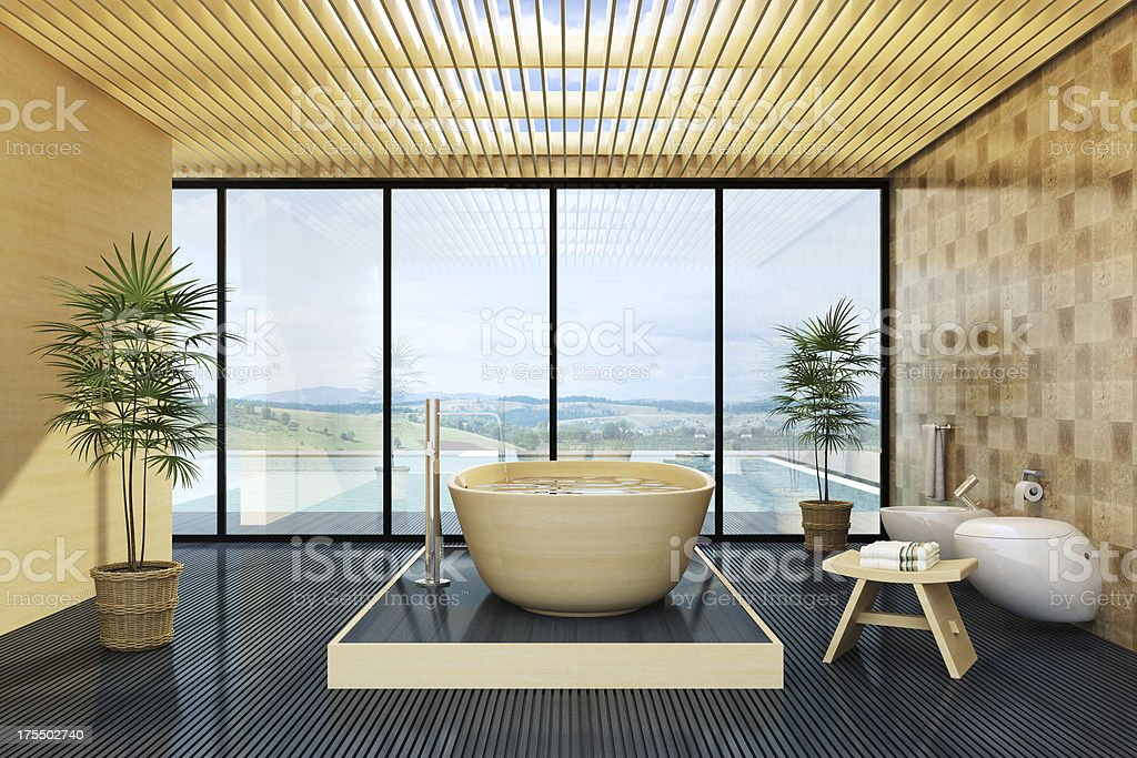 Luxury Villa Bathroom royalty-free stock photo