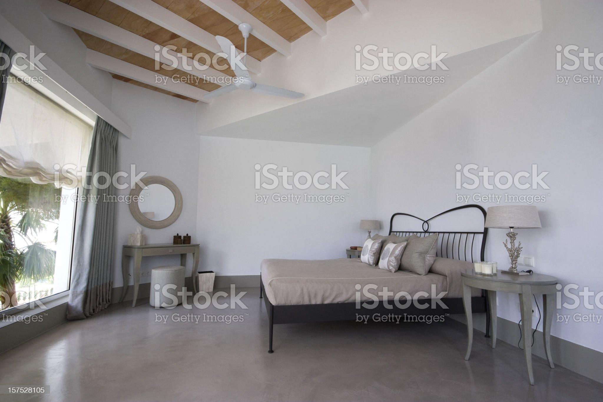 Luxury Villa Bedroom royalty-free stock photo
