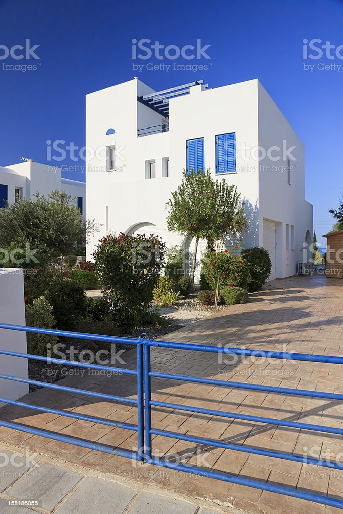 Luxury villa exterior royalty-free stock photo
