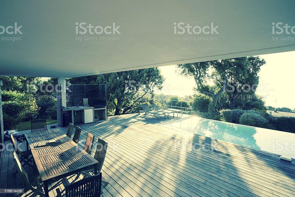 Luxury Villa Exterios (toned image) royalty-free stock photo