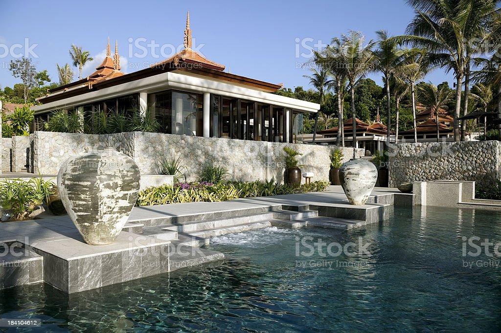 luxury villa hotel phuket royalty-free stock photo