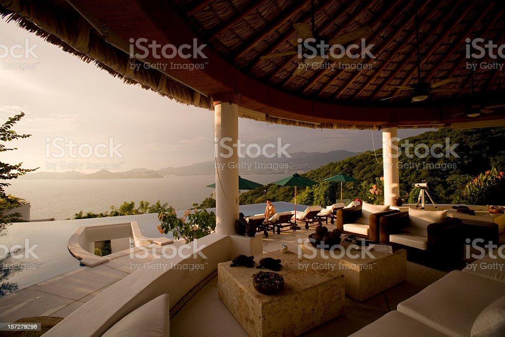 Luxury Villa in Acapulco Mexico stock photo