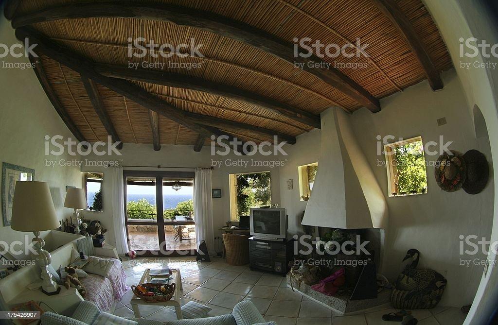Luxury villa in Costa Smeralda royalty-free stock photo