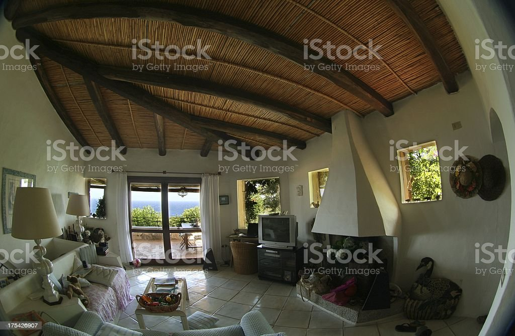 Luxury villa in Costa Smeralda stock photo