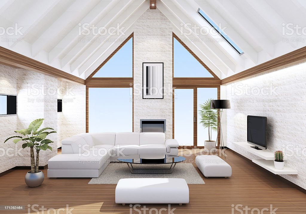 Luxury Villa Interior royalty-free stock photo