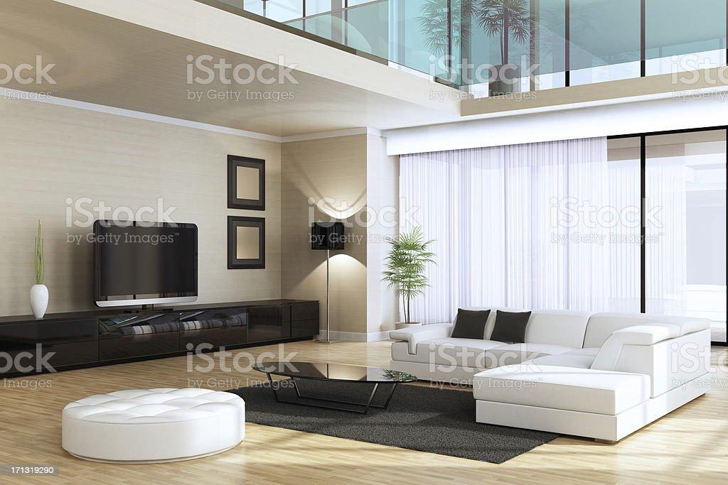 Luxury Villa Interior stock photo