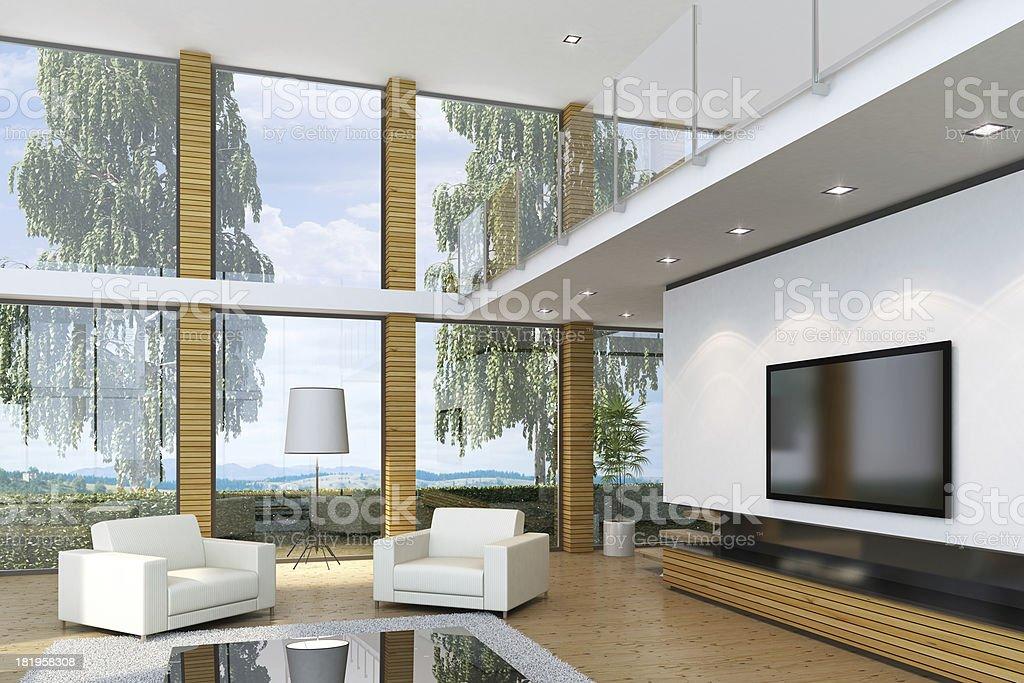 Luxury Villa Interior royalty-free stock photo