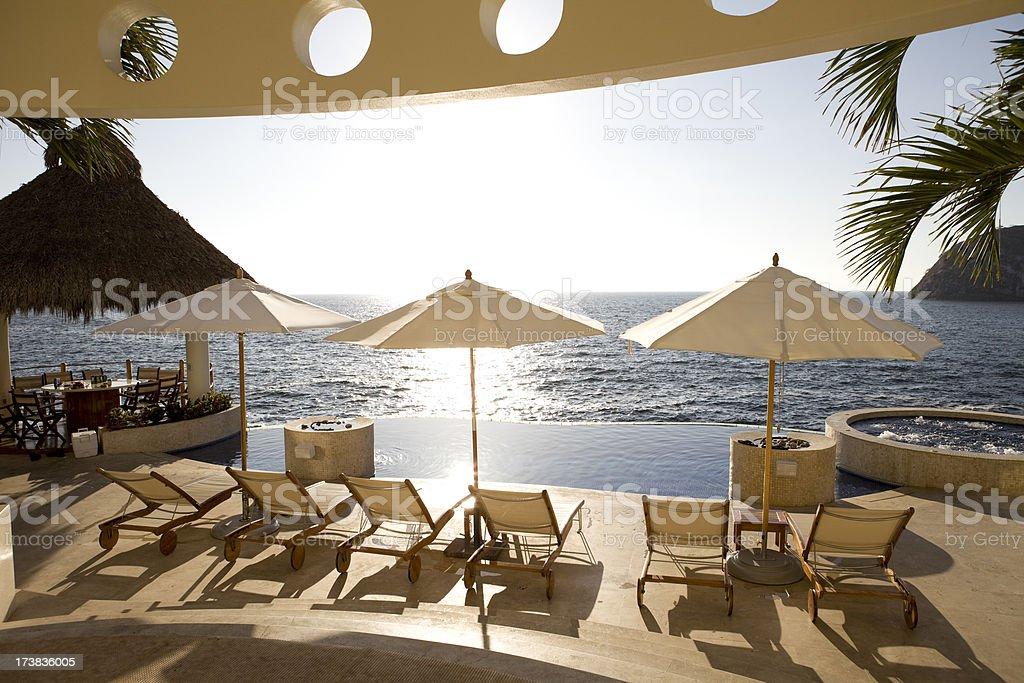 Luxury Villa Patio in Puerto Vallarta Mexico stock photo
