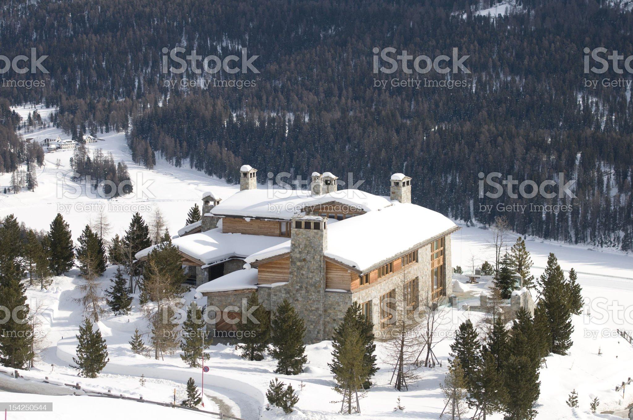 Luxury villa royalty-free stock photo