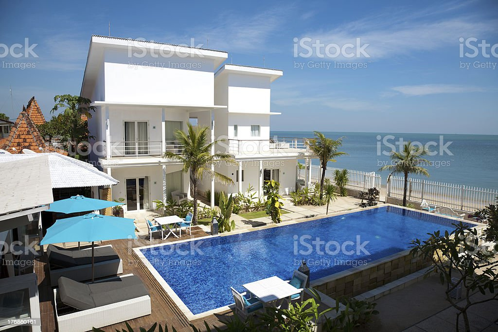 Luxury villa stock photo