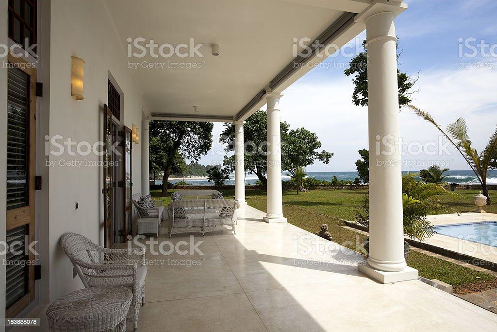 luxury villa stock photo