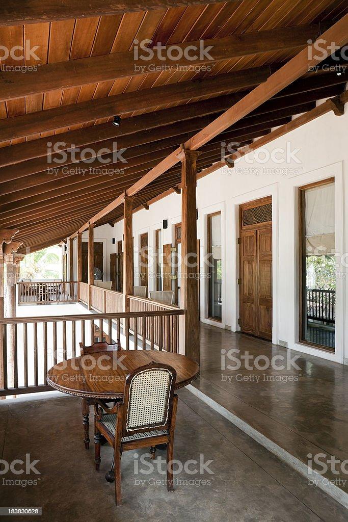 luxury villa veranda royalty-free stock photo
