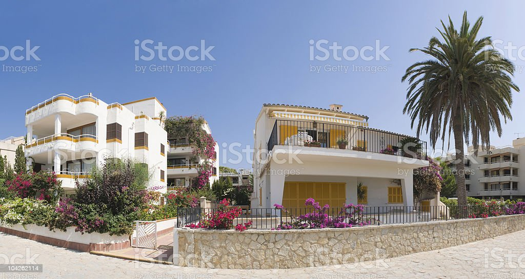 Luxury villas royalty-free stock photo
