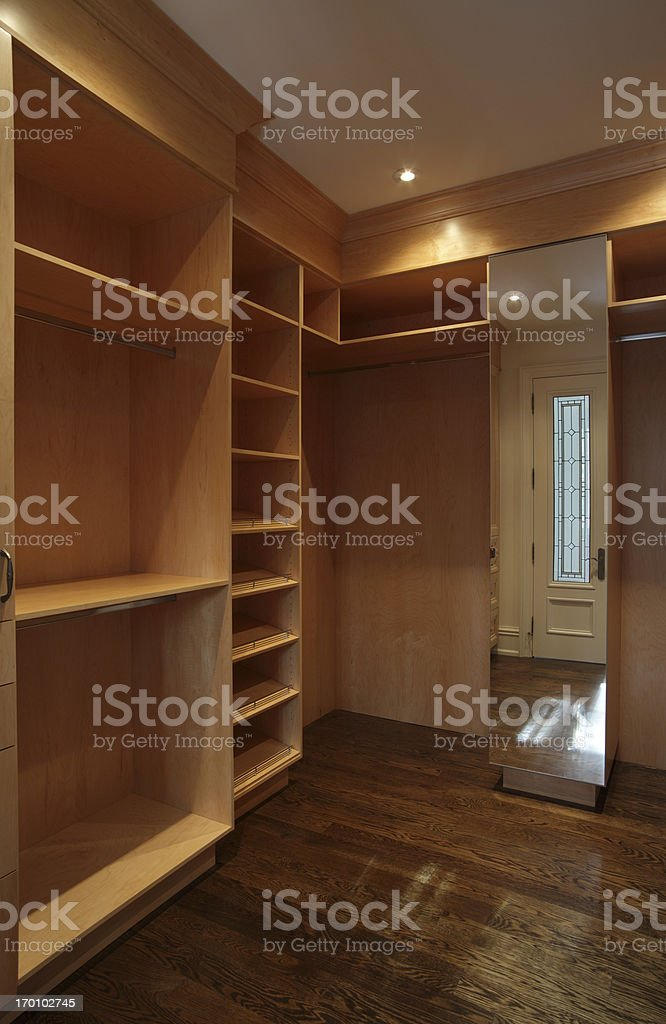 Luxury Walk in Closet royalty-free stock photo