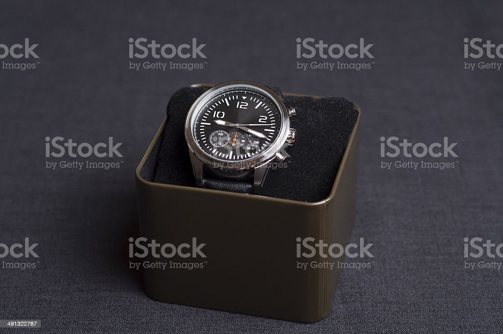 Luxury Watch in a box stock photo