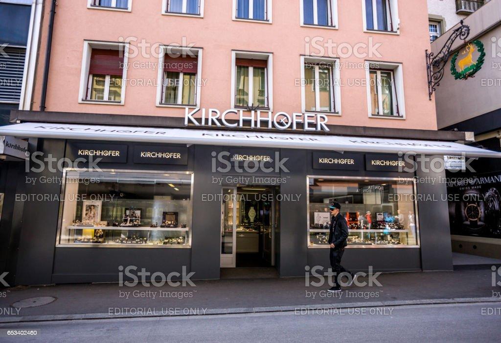 Luxury Watches shop in Interlaken, Switzerland stock photo